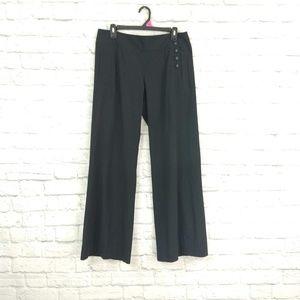 CAbi | Side Hip Button Flare Leg Black Dress Pants